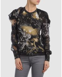 Roberto Cavalli Black Long Sleeve T-shirt
