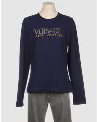 Versace Jeans Blue Long Sleeve T-shirt for men