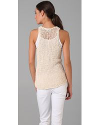 Vince | White String Sweater Tank | Lyst