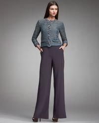 Fendi - Purple High-waist Wide-leg Pants, Violet Gray - Lyst