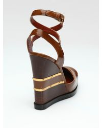 Marc By Marc Jacobs - Brown Closed-toe Wedge Pumps - Lyst