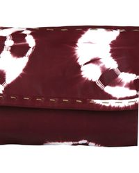 Sammy Ethiopia | Purple Burgundy Chu Chu Tie Dye Clutch Bag | Lyst