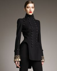 Alexander McQueen Black Three-in-one High-neck Double-breasted Jacket