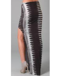 Helmut Lang | Black Frequency Print Maxi Skirt | Lyst