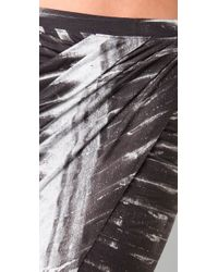 Helmut Lang - Black Frequency Print Maxi Skirt - Lyst