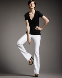 J Brand | Bailey Boot-cut Jeans, White | Lyst