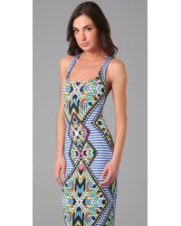 Mara Hoffman - Blue Tank Cover Up Long Dress - Lyst