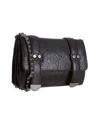 Nicole Miller | Black Pebbled Leather Addison Bike Chain Crossbody Bag | Lyst