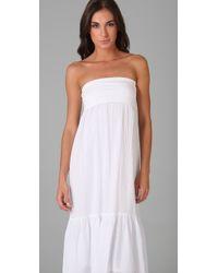 Splendid White Linen Skirt / Dress