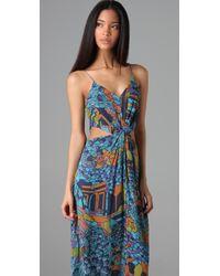 Zimmermann Blue Labyrinth Twist Maxi Dress