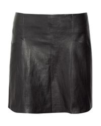 Acne | Black Dali Leather Mini Skirt | Lyst
