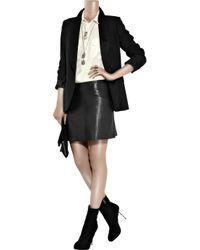Acne Studios - Black Dali Leather Mini Skirt - Lyst