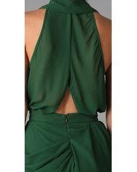 Camilla & Marc | Green Antiquity Shirt Detail Draped Frock | Lyst