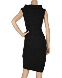 Hervé Léger | Black Bandage-style Cashmere-blend Dress | Lyst