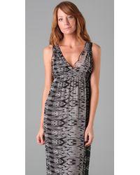 Joie - Gray Ornella Ikat Long Dress - Lyst