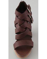 Madewell - Brown Basket Weave Platform Sandals - Lyst