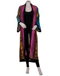 Missoni | Multicolor Open-front Zigzag-intarsia Wool-blend Cardigan | Lyst