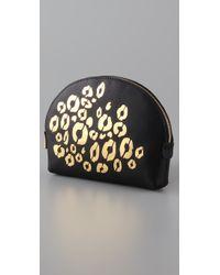 Rebecca Minkoff - Black Cheetah Makeout Cosmetic Case - Lyst