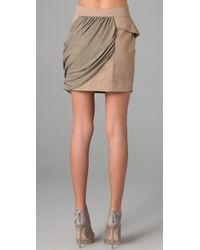 Sass & Bide - Natural Kind & Charitable Draped Silk and Cotton Skirt - Lyst