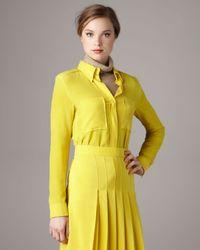 Chloé | Yellow Silk Crepe Blouse | Lyst