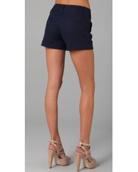 Alice + Olivia - Blue Cady Cuff Shorts - Lyst