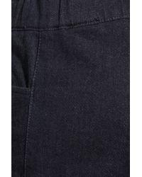 Halston Blue Stretch-denim Leggings