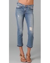 J Brand | Blue Repaired Gigi Cropped Flare Jeans | Lyst