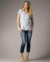 Joe's Jeans | Blue Kicker Cropped Jeans | Lyst