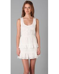 Juicy Couture White Shadow Dot Dress