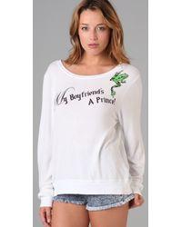 Wildfox - White My Boyfriends A Prince Sweatshirt - Lyst