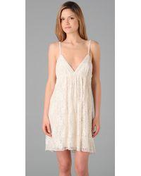 Alice + Olivia | White Jenny Slip Dress | Lyst