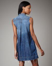 Current/Elliott - Blue Craftsman Smock Dress - Lyst