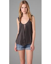 Free People | Gray New Romantics Harvest Moon Tank | Lyst