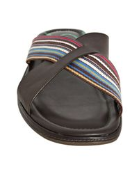 Paul Smith | Swami Brown Striped Sandal for Men | Lyst