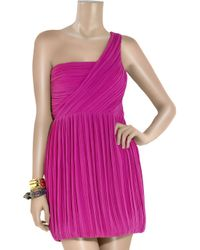 Theory | Purple Taliana Silk-crepe One-shoulder Dress | Lyst