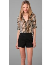 Equipment | Multicolor Daddy Leopard Shirt | Lyst
