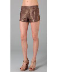 Twelfth Street Cynthia Vincent | Metallic Gym Shorts | Lyst