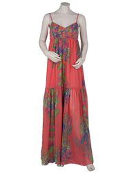Halston | Multicolor Floral Printed Maxi Dress | Lyst