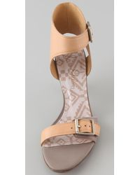 Sam Edelman - Natural Vander Ankle Cuff Sandals - Lyst
