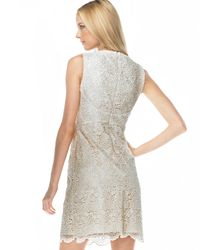 Michael Kors - Natural Lace Sheath Dress - Lyst