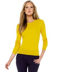 Michael Kors - Yellow Ribbed Cashmere Sweater - Lyst