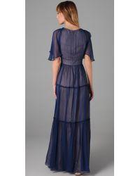 Twelfth Street Cynthia Vincent - Purple Tiered Long Dress - Lyst