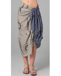 Antik Batik - Blue Aries Scarf / Pareo - Lyst