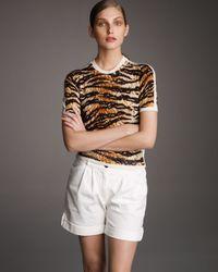 Dolce & Gabbana | White Cuffed Shorts | Lyst