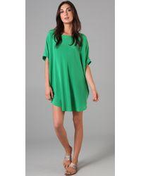 DKNY - Green Short Sleeve Tunic - Lyst