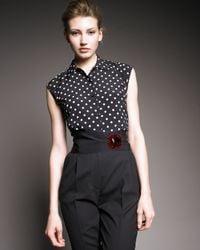 Dolce & Gabbana | Black Dot-print Shirt | Lyst