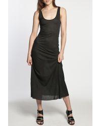 Enza Costa | Black Long Slip Dress | Lyst
