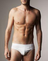 Hanro | White Micro Touch Briefs for Men | Lyst