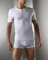 Hanro | White Cttn Snstn Boxer Brief for Men | Lyst
