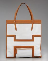 HUNTER | White Halle Leather Tote | Lyst